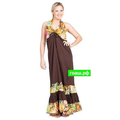 1 Сарафан длинный long halter dress d-4683